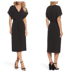 Felicity & Coco Rita Wrap Black Dress Size Large
